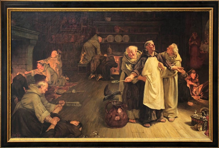 A Conundrum in the Kitchen  - Painting by Frank Hyde