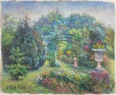 Katia en Rose, au Jardin de Marras