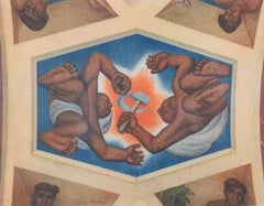 Chapel of the Agricultural School, Chapingo (Ceiling Detail, Workers)