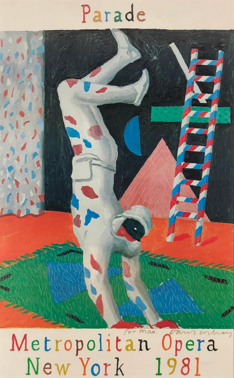 David Hockney Figurative Print - Parade, Metropolitan Opera