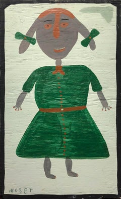 Girl with Pig-Tails and Green Dress