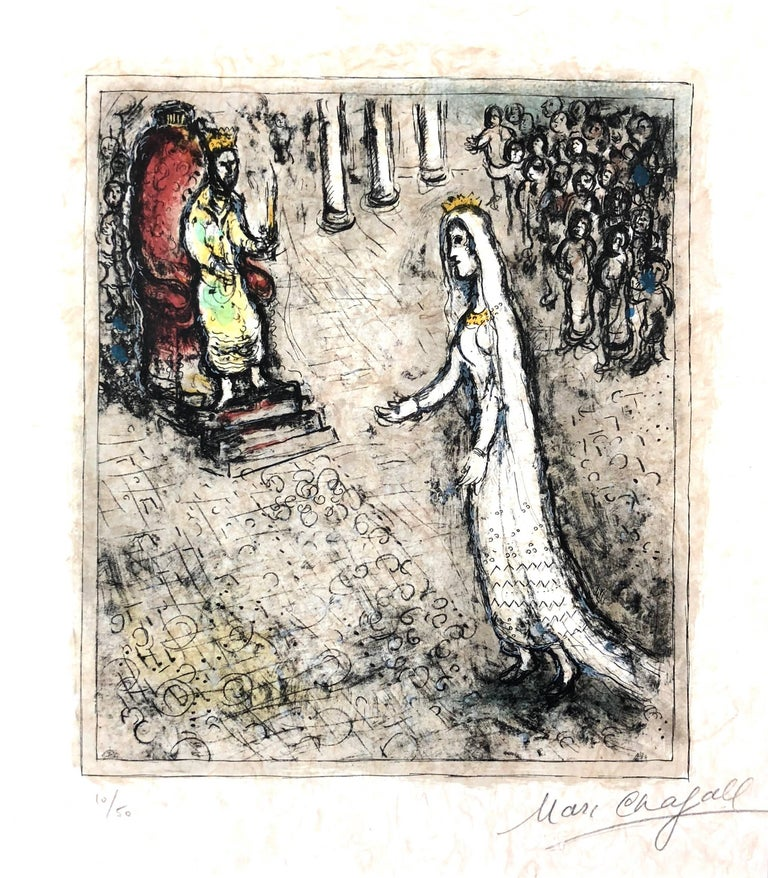 Marc Chagall Figurative Print Esther