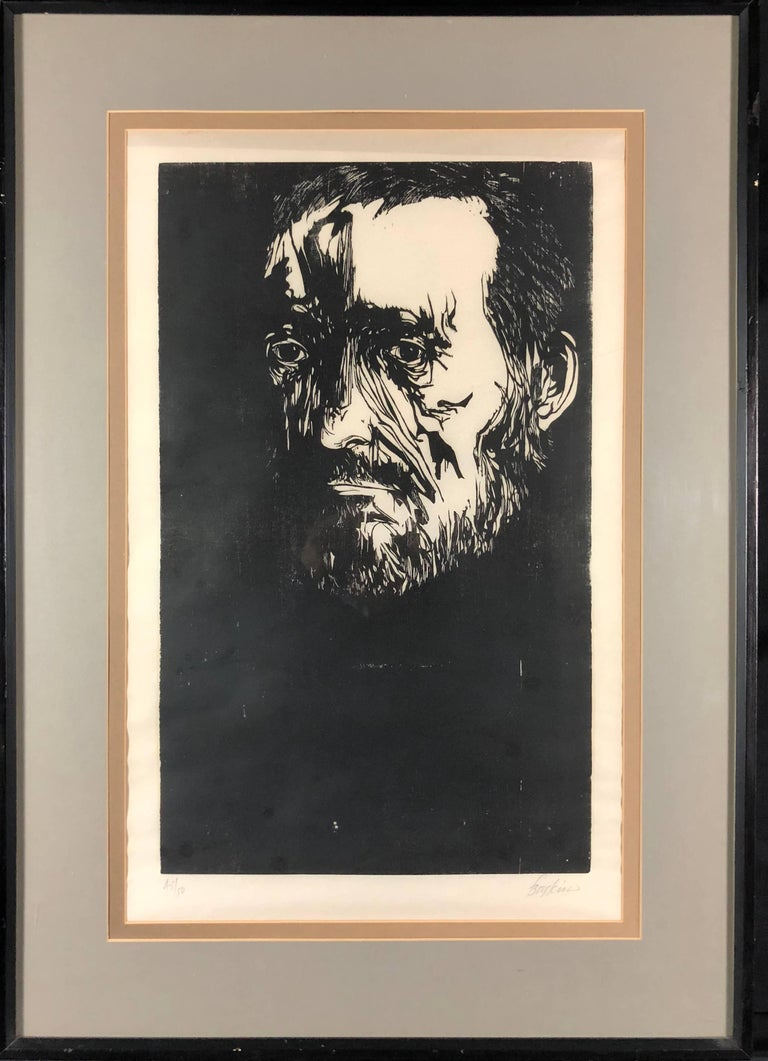 Portrait of Thomas Eakins - Print by Leonard Baskin