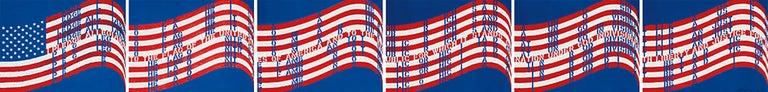 Wav(er)ing Flags (Six Lithographs) - Print by Vito Acconci