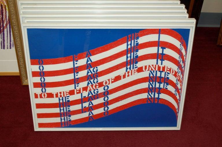Wav(er)ing Flags (Six Lithographs) - American Modern Print by Vito Acconci