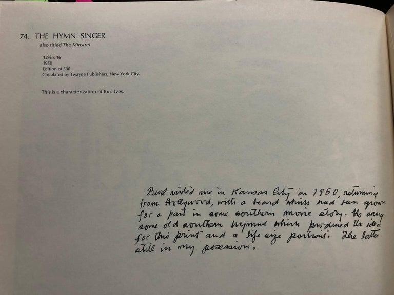 The Hymn Singer - American Realist Print by Thomas Hart Benton