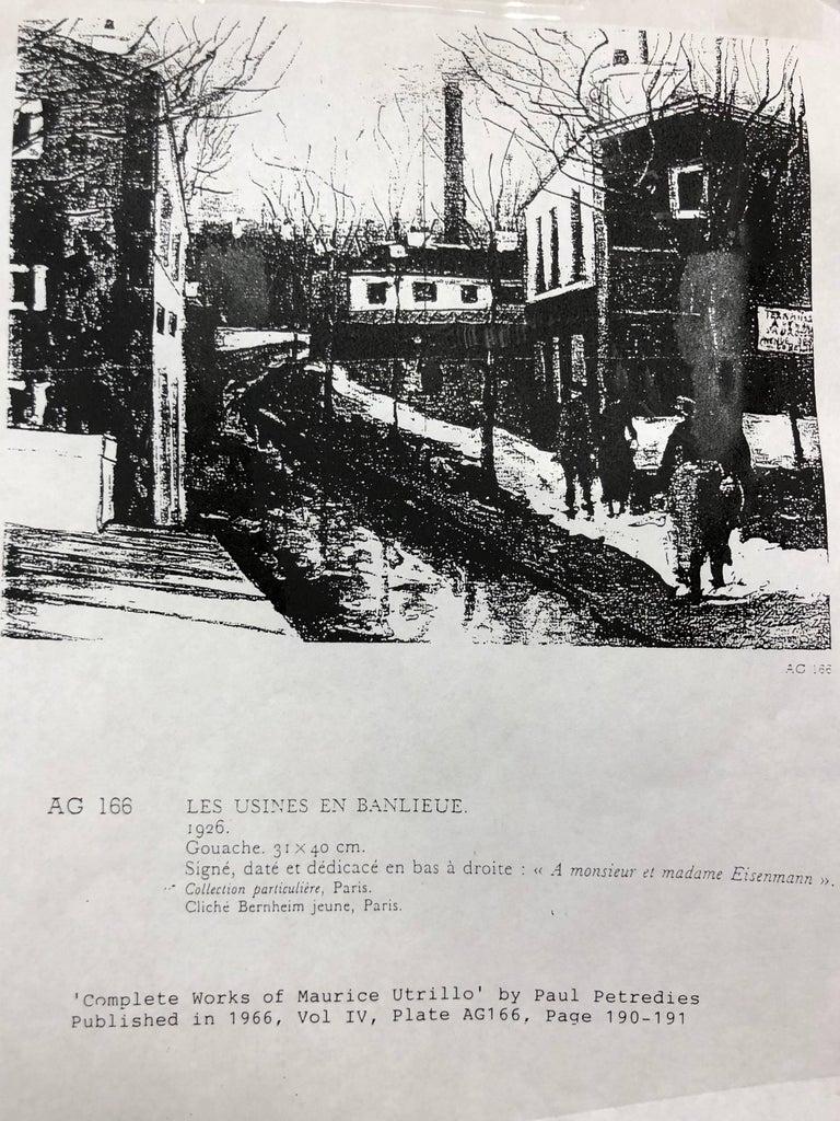 Les Usines En Banlieue - Impressionist Art by Maurice Utrillo