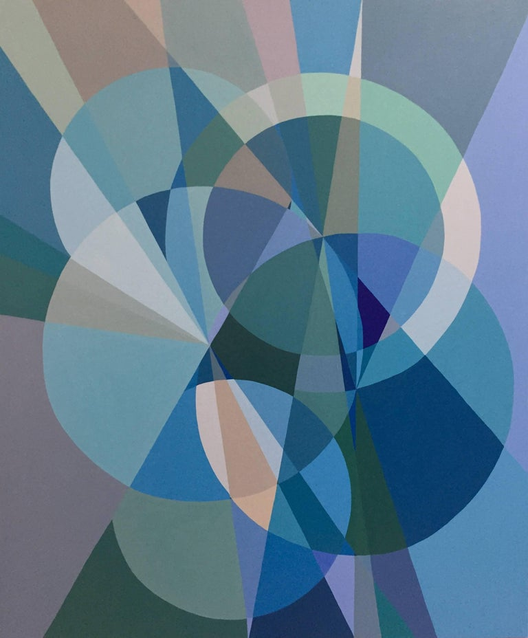 Christine Finley Abstract Painting - Blue Multiverse I