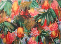 "Contemporary Oil Painting, ""Tropical Exotic"""