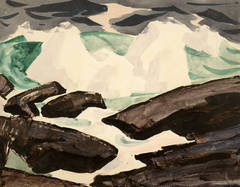 Rocks and Waves, Monhegan