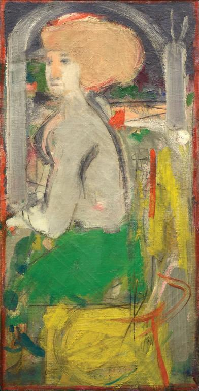 Robert Beauchamp Figurative Painting - Seated Lady in Green