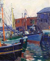 Fishing Boats at Harbor