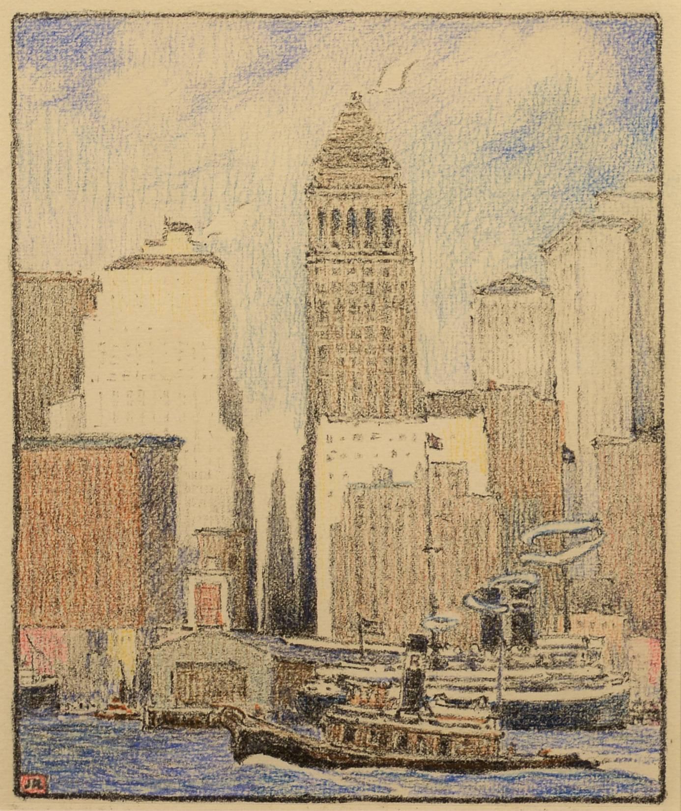 John H. Recknagel, Jr. - New York City Skyline at 1stdibs
