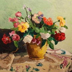 """Rose Bouquet #1,"" Geer Morton, contemporary art, still life, expressionist"