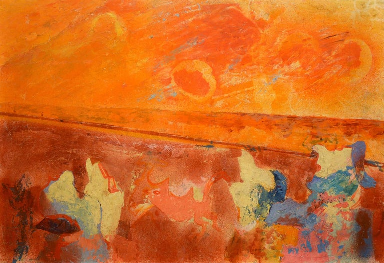 Morris Shulman Abstract Painting - Something in the Sky