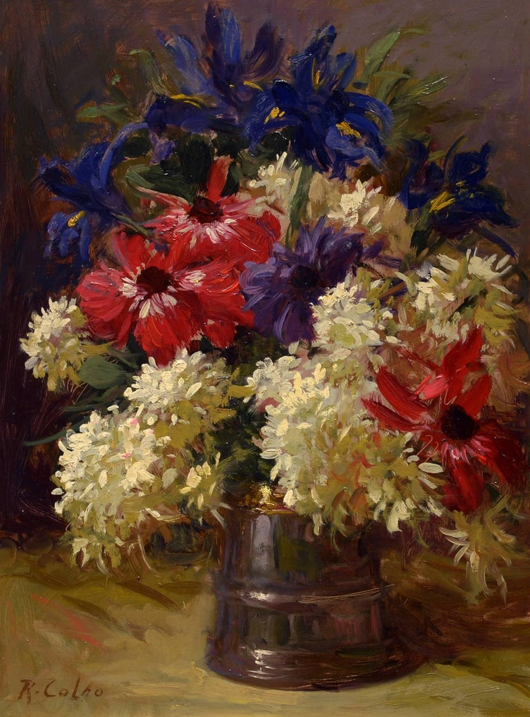 Rudolph Colao - Impressionist Flower Still Life by Rudolph Colao ...