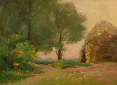 """Haystack, Late Afternoon,"" William Dennis, impressionist, 1900-10, landscape"