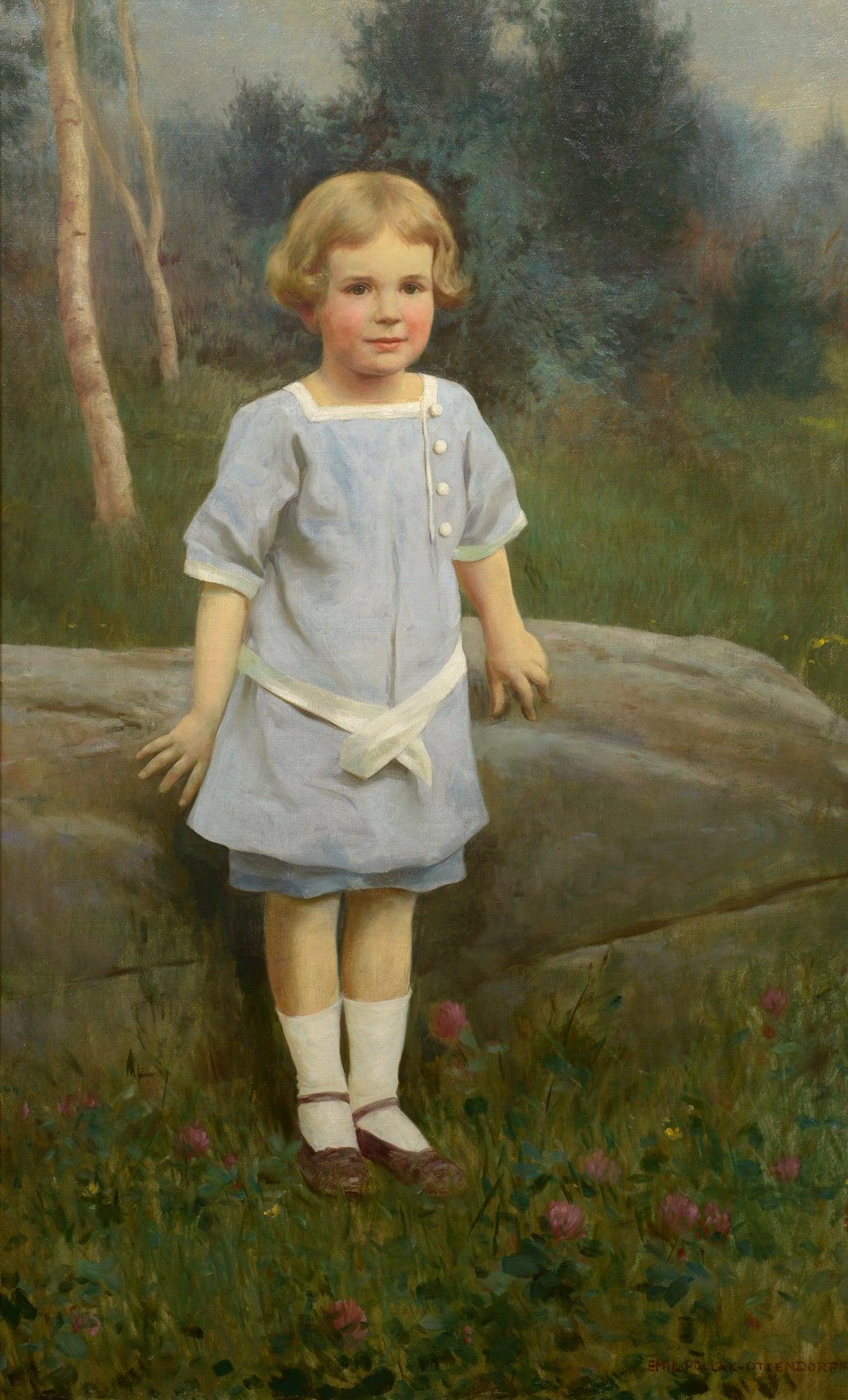 """Edge of the Wood,"" Emil Pollak Ottendorff, oil painting, figurative, ca 1910-20"