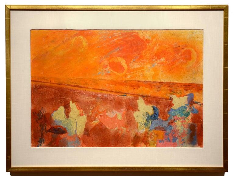 Something in the Sky - Painting by Morris Shulman
