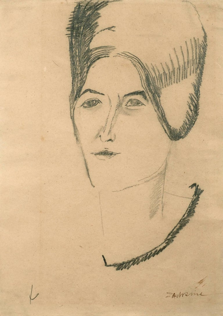 Ossip Zadkine Portrait - Lady with a Necklace