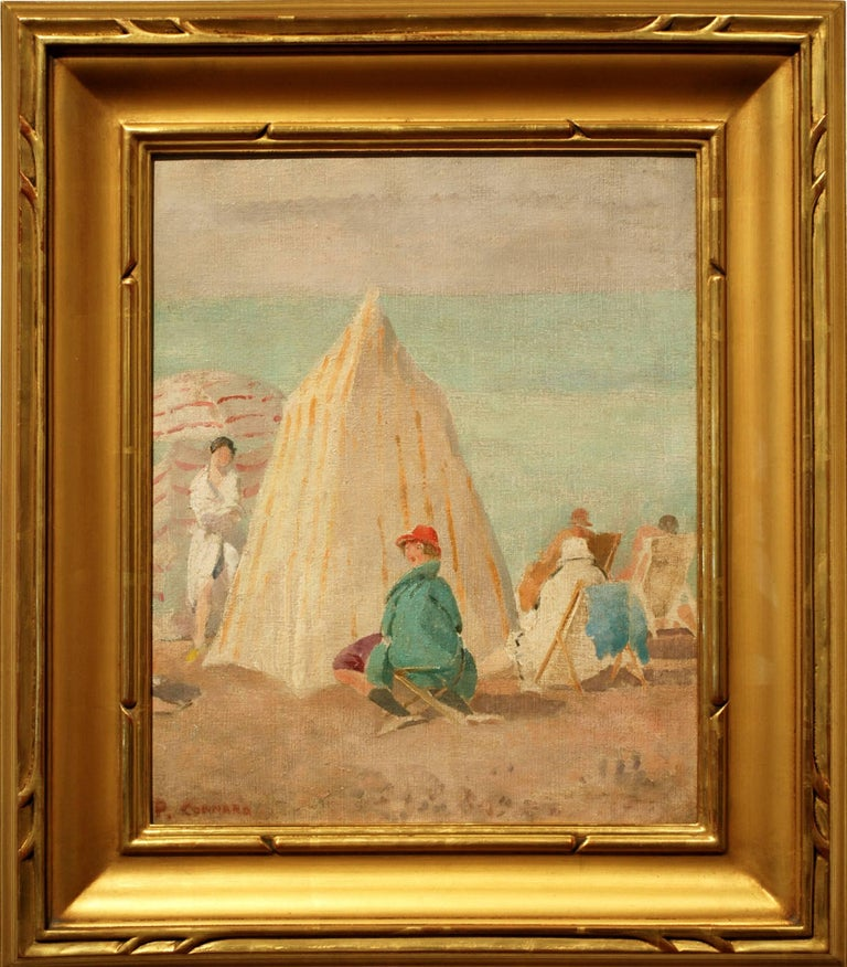 At the Beach - Painting by Philip Connard