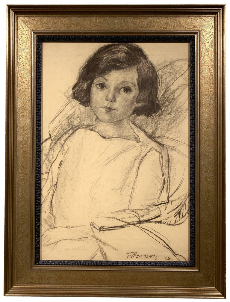 Young Girl Seated - Art by Theresa Bernstein