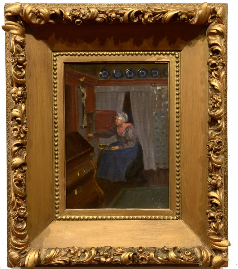 Addison Thomas Millar Lady In An Interior Painting For Sale At 1stdibs