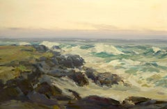 """Morning at Low Rocks, Monhegan,"" Jay Hall Connaway, seascape, impressionist"