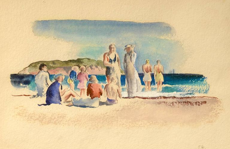 Felicie Howell Figurative Art - At the Beach