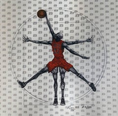 MJ Vitruvian Athlete - Red  Edition 4/35