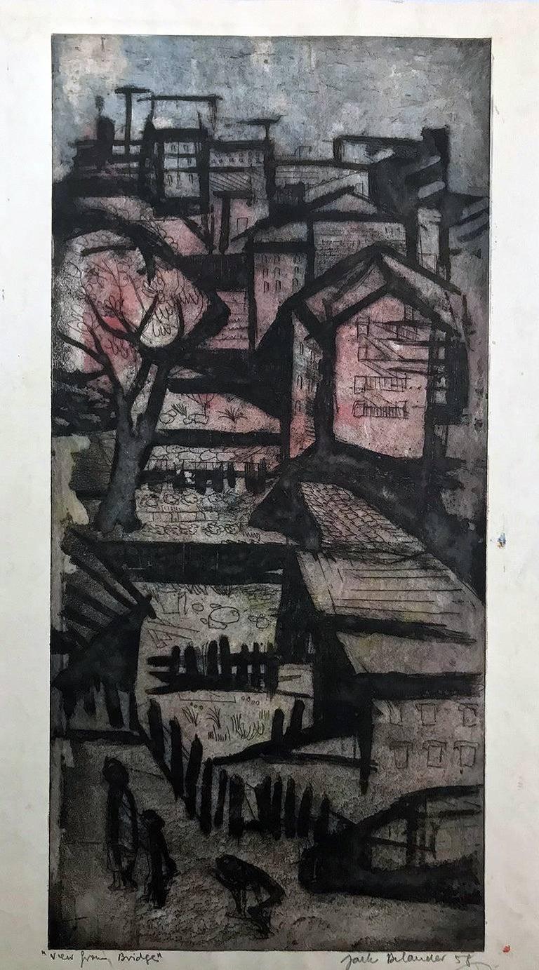 Jack Bilander Landscape Print - View From Bridge