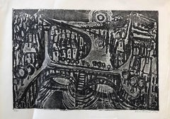 Untitled: Black and White Lithograph (Edition 4/100)
