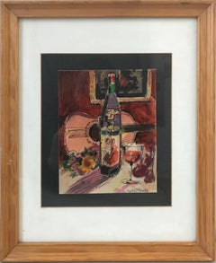 Untitled: Still Life with Guitar and Wine