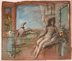 Untitled: Seated Nude