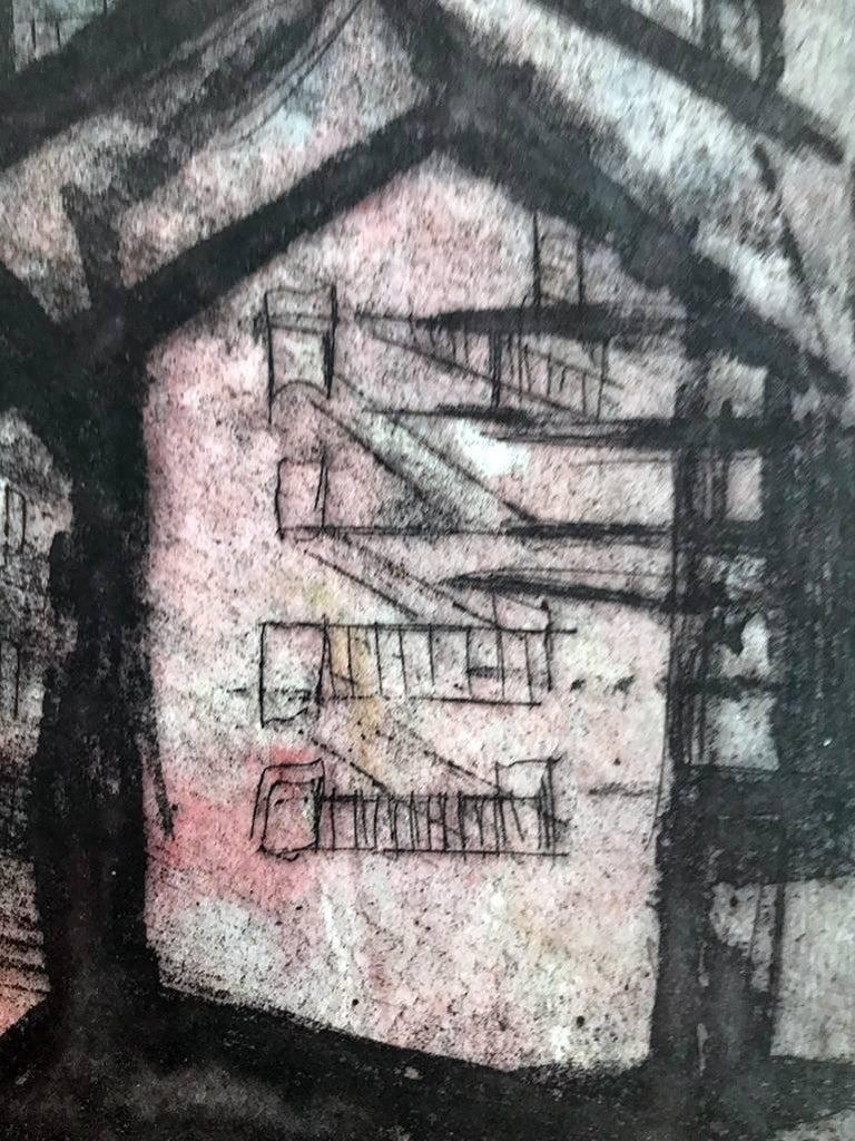 View From Bridge - Abstract Print by Jack Bilander