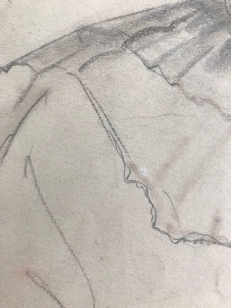 Untitled (Drawing of a Woman) - Academic Art by John Gilroy