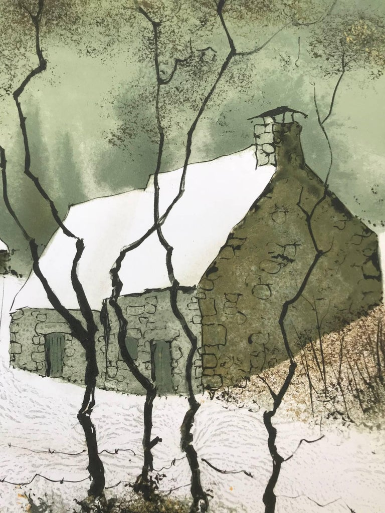 Untitled Winter Landscape (Edition 85/150) - Print by Bernard Charoy