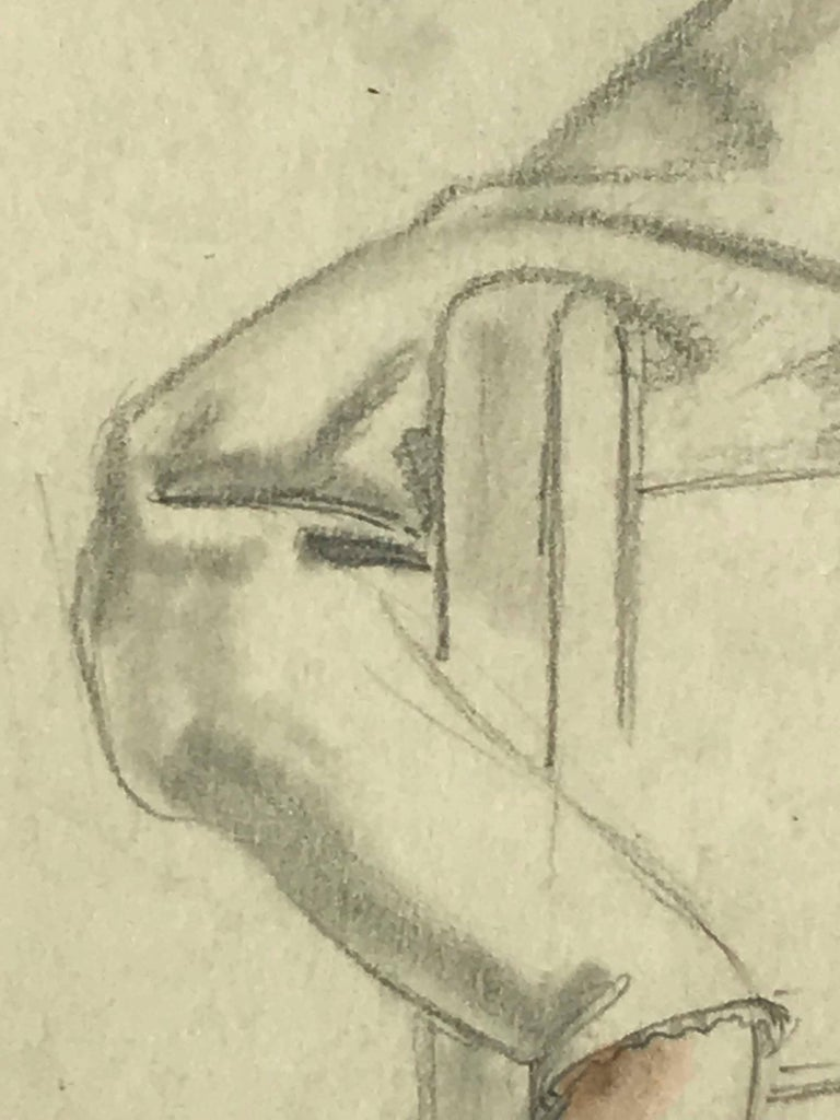 Untitled (Seated Woman In Chair) For Sale 3