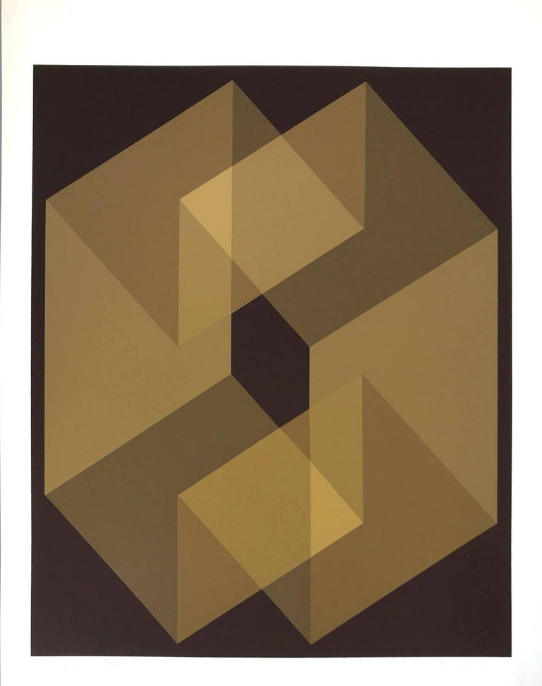 Entry V (Edition 75/100) - Brown Abstract Print by Shirley Penman
