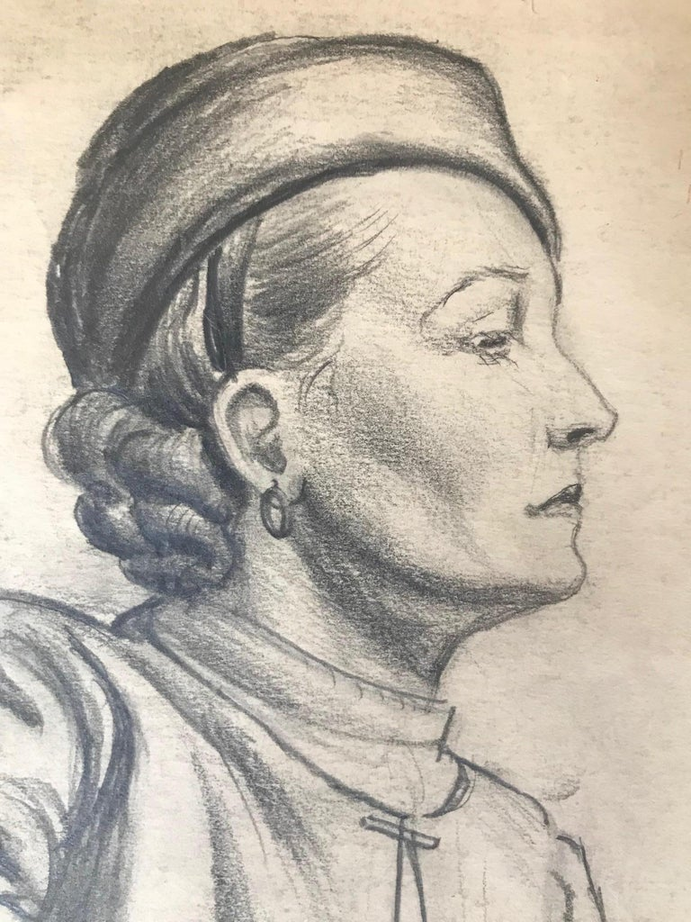 Untitled: 1930s Drawing Of  A Seated Woman - Art by Unknown