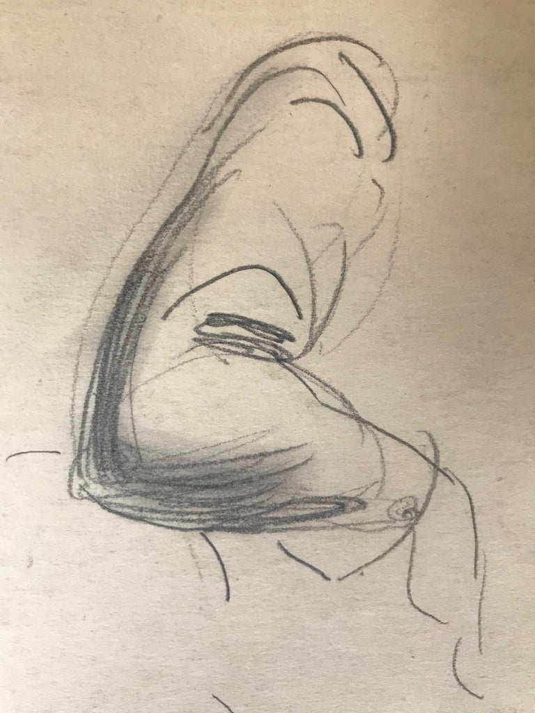 Untitled: 1930s Drawing Of  A Seated Woman - Academic Art by Unknown