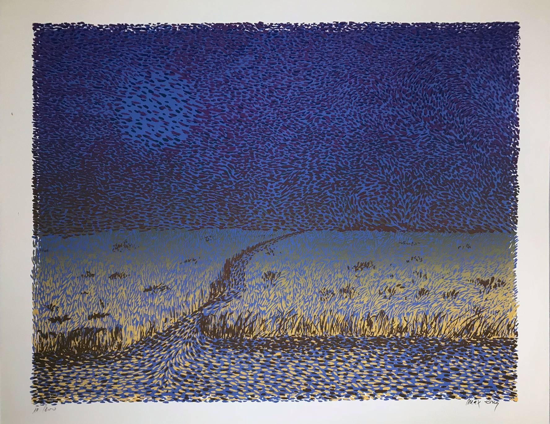Untitled: Purple, Blue & Gold Landscape (Edition 39/200)
