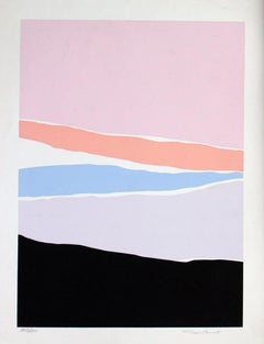 Untitled: Lavender, Blue & Pink Serigraph (Edition 303/350)