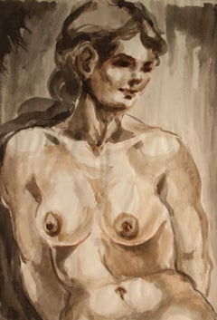 Untitled: Front Nude Watercolor