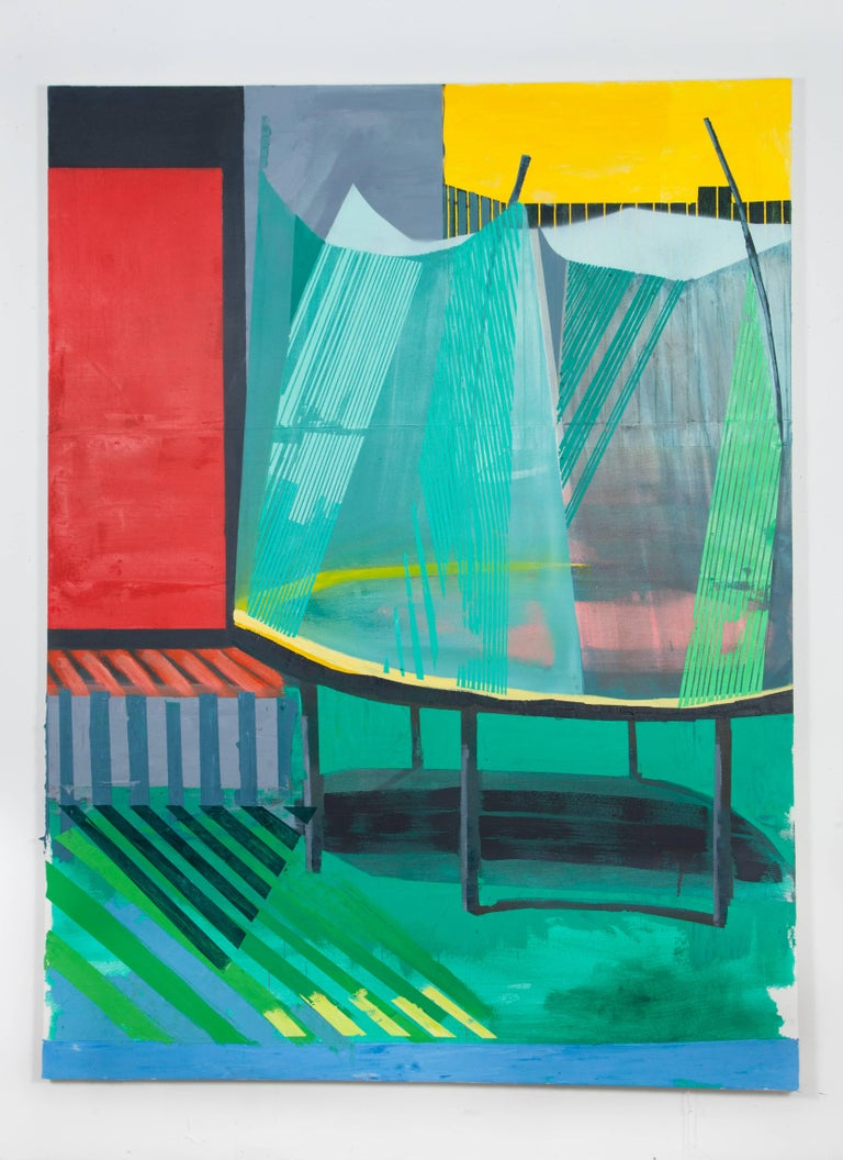 Jodi Hays Figurative Painting - Turf (Entrance/ Exit)