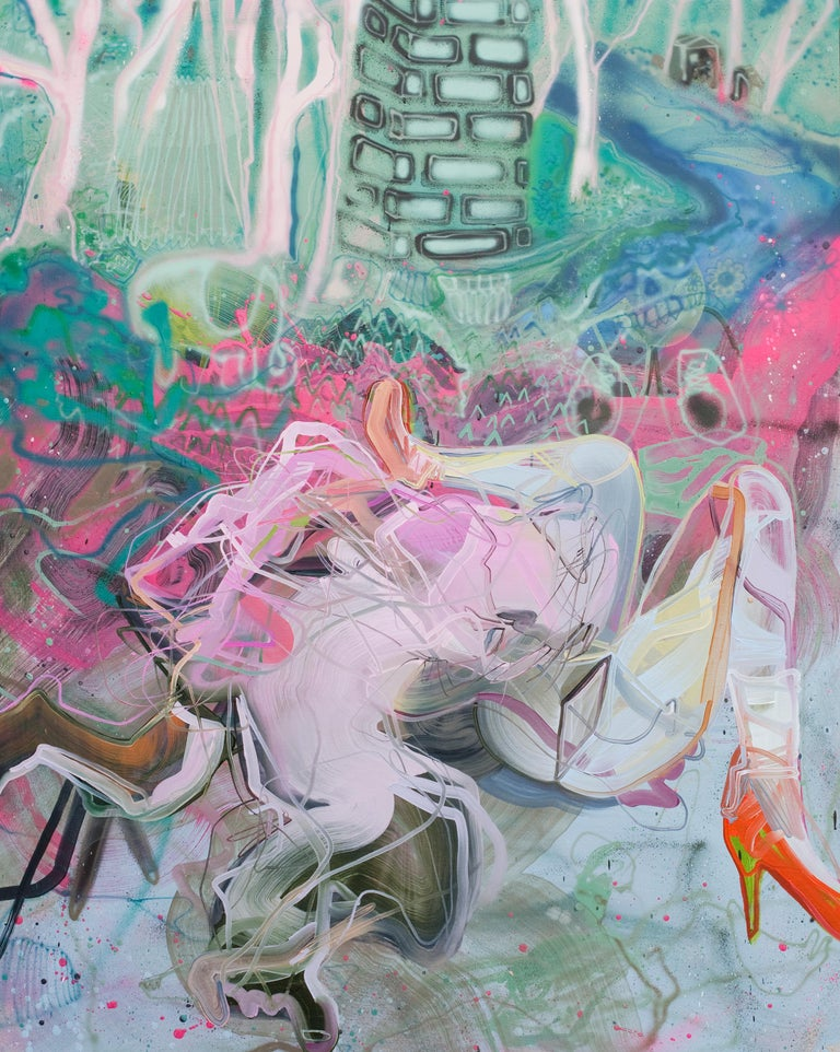 Dana Oldfather Abstract Painting - Knock Knees