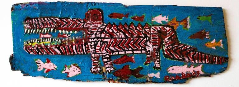 Red and Black Alligator
