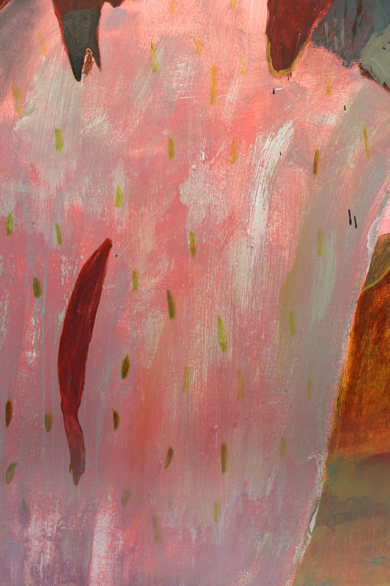 Joshua Tree Dreaming - Pink Abstract Painting by John Paul Kesling