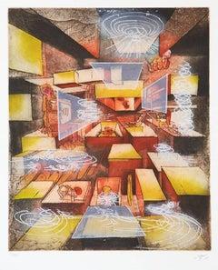 L'entrée est à la Sortie 1983 Matta Etching Framed