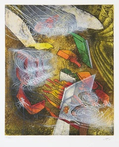 L'essence de l'essentiel 1983 Matta Etching Framed